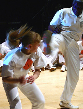 Capoeira game with Mestre Sombra, photo by Mark Himsworth