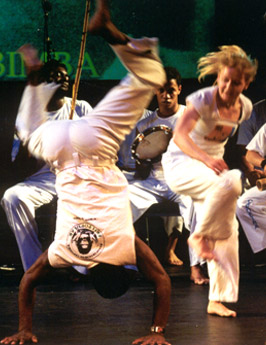 Capoeira game during the batizado ceremony
