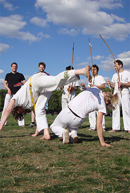 Capoeira Agora playing in Hyde Park, August 2013